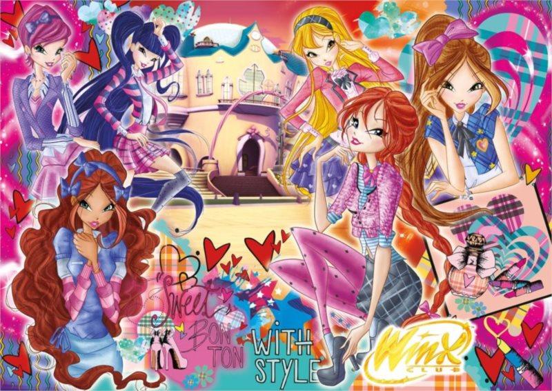 CLEMENTONI Dětské MAXI puzzle - Winx Club: Sweet Bon Ton 104 dílků