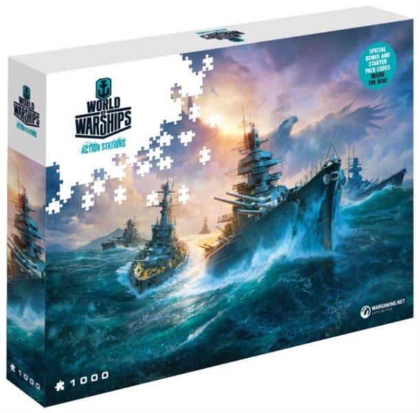 Puzzle World of Warships: Německé válečné lodě 1000 dílků