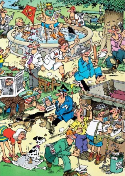 Puzzle JUMBO 19023 Haasteren: Zábava v parku 150 dílků