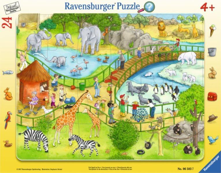 RAVENSBURGER Puzzle Zábava v ZOO 24 dílků