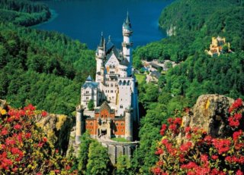 JUMBO 17323 Zámek Neuschwanstein - puzzle 1000 dílků