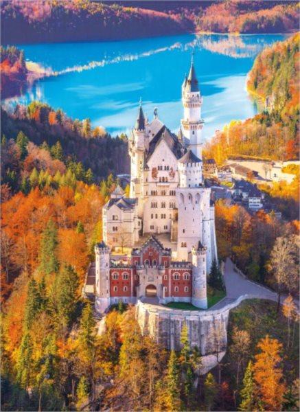 Puzzle CLEMENTONI 39382 Zámek Neuschwanstein 1000 dílků