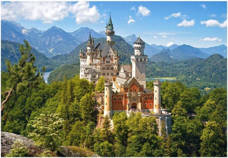 Puzzle CASTORLAND 1500 dílků - Zámek Neuschwanstein, Německo