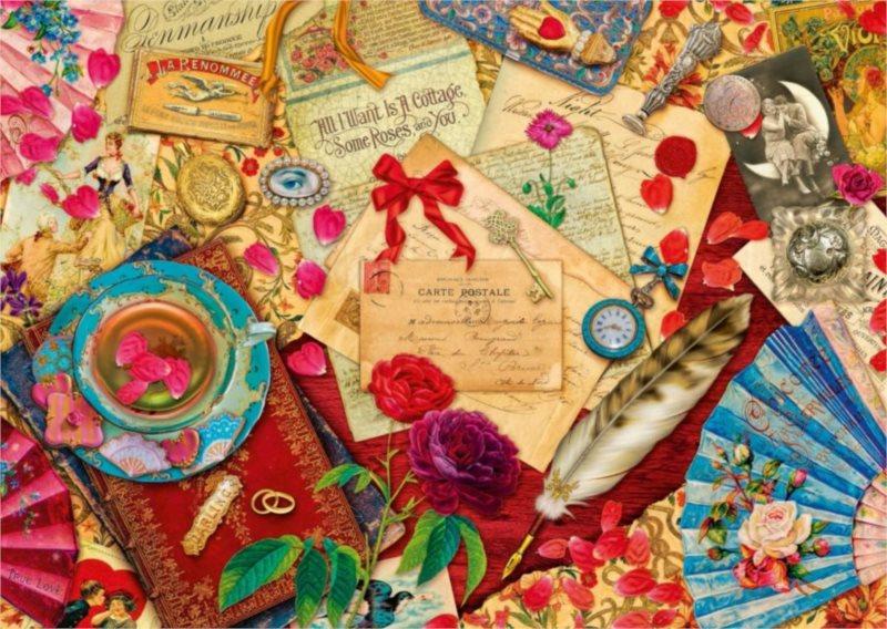 Puzzle SCHMIDT Zamilované dopisy 1000 dílků