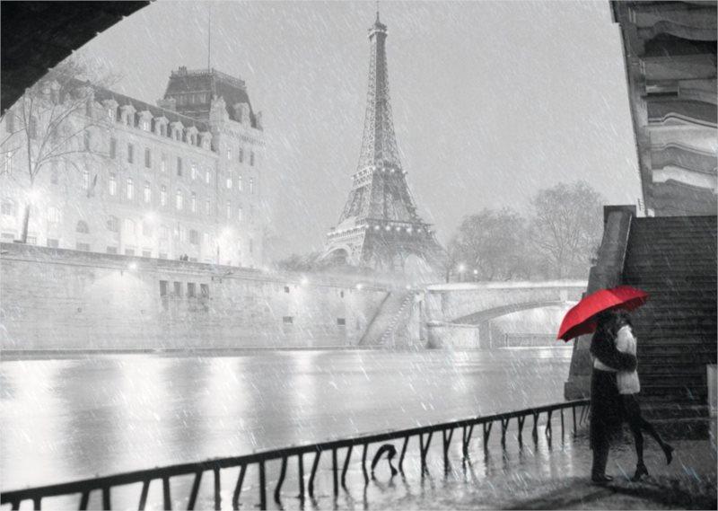 RAVENSBURGER Puzzle Zamilovaný pár v Paříži 1000 dílků