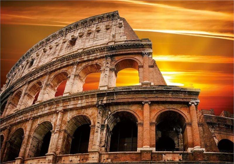 Puzzle DINO 500 dílků - Západ slunce nad Koloseem