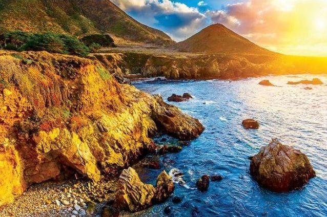 Puzzle EUROGRAPHICS 1000 dílků : Západ slunce nad Tichým oceánem