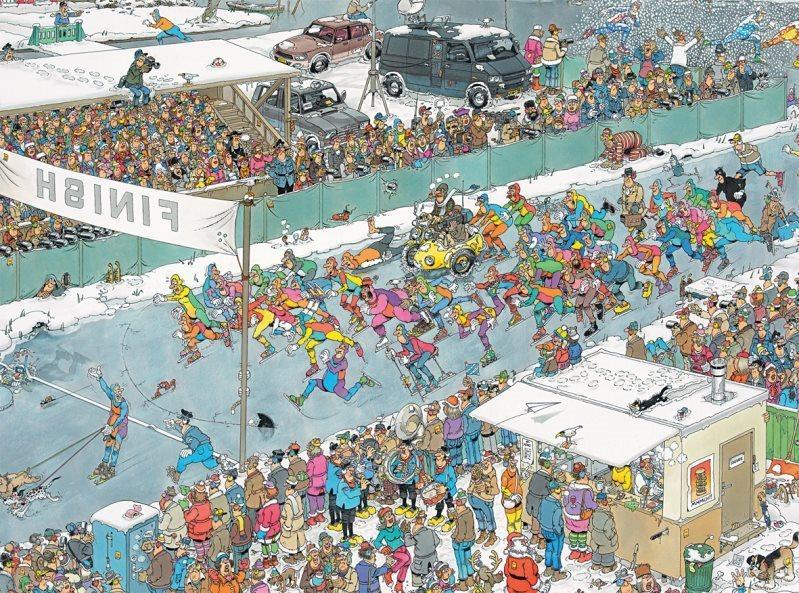 JUMBO Puzzle Závod jedenácti měst 2000 dílků