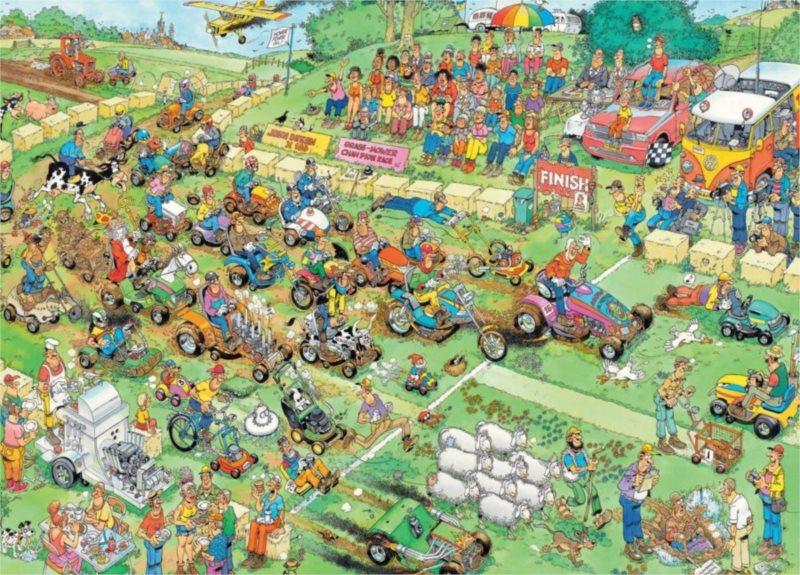 JUMBO Puzzle Závod sekaček na trávu 2000 dílků