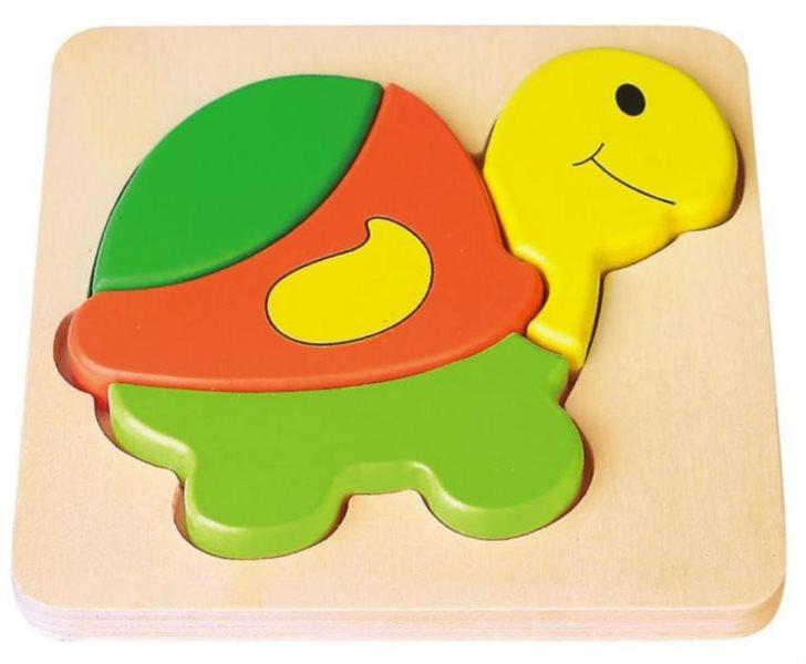 BABU Dřevěné puzzle Želvička 4 dílky