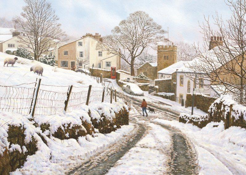 FALCON , JUMBO Puzzle Zimní Newchurch-in-Pendle, Velká Británie 1000 dílků