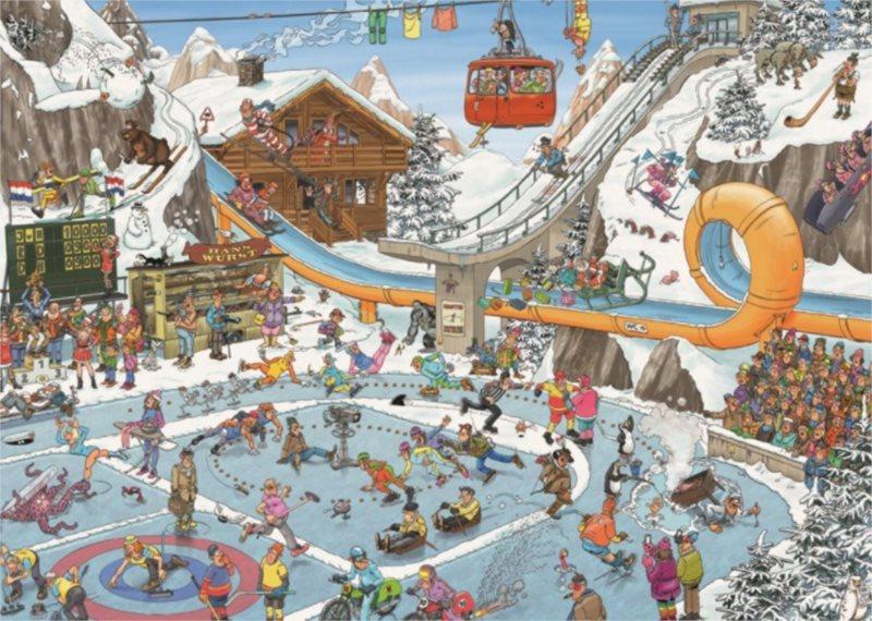 JUMBO Puzzle Zimní sporty 1000 dílků