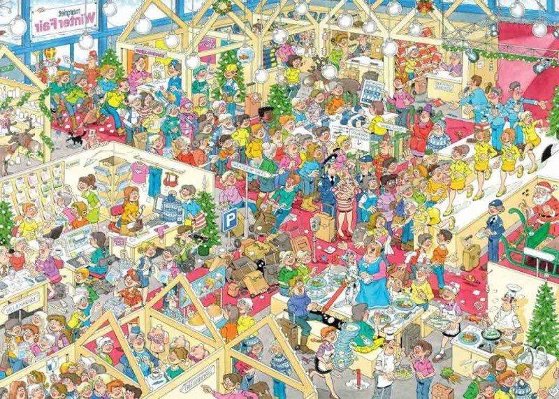 JUMBO Puzzle Zimní veletrh 1000 dílků