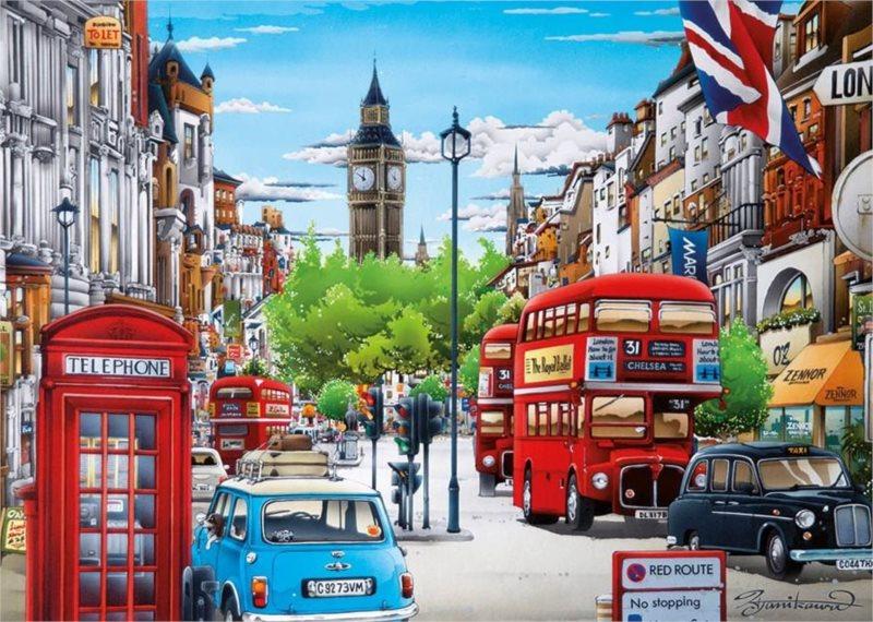 Puzzle DINO 1000 dílků - Život v Londýně
