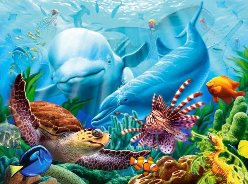 Puzzle CASTORLAND 2000 dílků - Život v oceánu