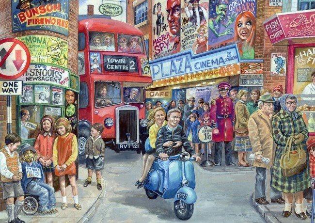 FALCON Mitchell: Život ve městě - puzzle 1000 dílků
