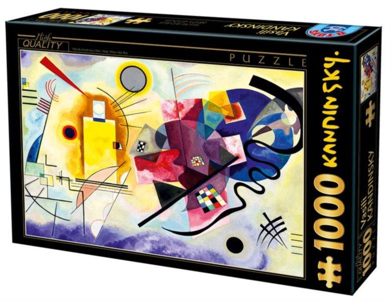 Puzzle D-TOYS 72849 W. Kandinsky: Žlutá, červená, modrá 1000 dílků