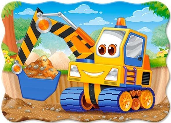 Dětské puzzle 30 dílků - Žlutý bagr, CASTORLAND