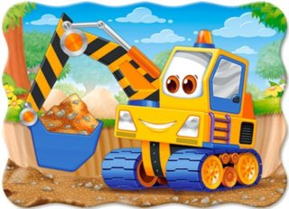 CASTORLAND Puzzle Žlutý bagr 30 dílků