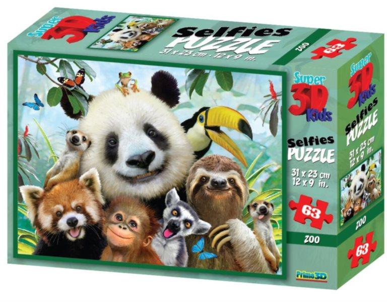 PRIME 3D Puzzle ZOO 3D 63 dílků