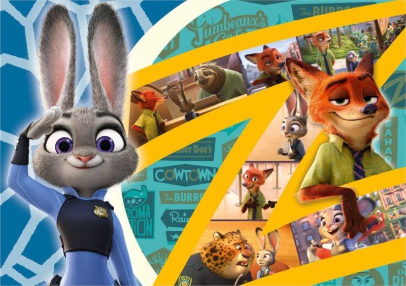 CLEMENTONI puzzle Zootropolis: Město zvířat 60 dílků