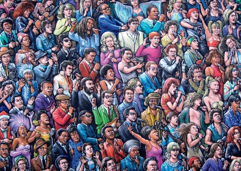 JUMBO Puzzle 17292 Zpívající zpěváci 1000 dílků