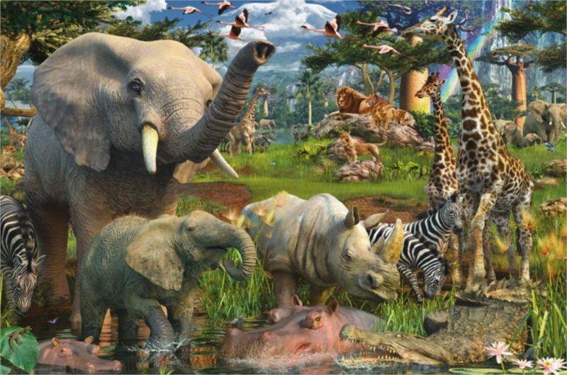 RAVENSBURGER Puzzle Zvířata na safari 3000 dílků