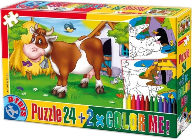 D-TOYS Puzzle Zvířátka 1 (24 dílků)