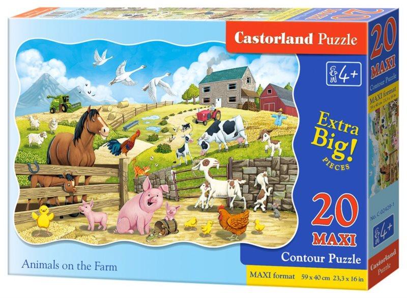 CASTORLAND Puzzle Zvířátka na farmě MAXI 20 dílků