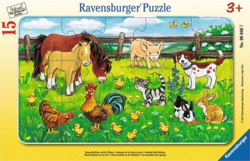 RAVENSBURGER Puzzle Zvířátka na louce 15 dílků