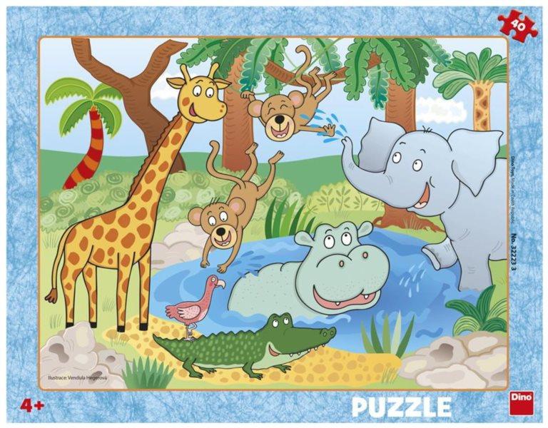 DINO Puzzle Zvířátka v ZOO 40 dílků