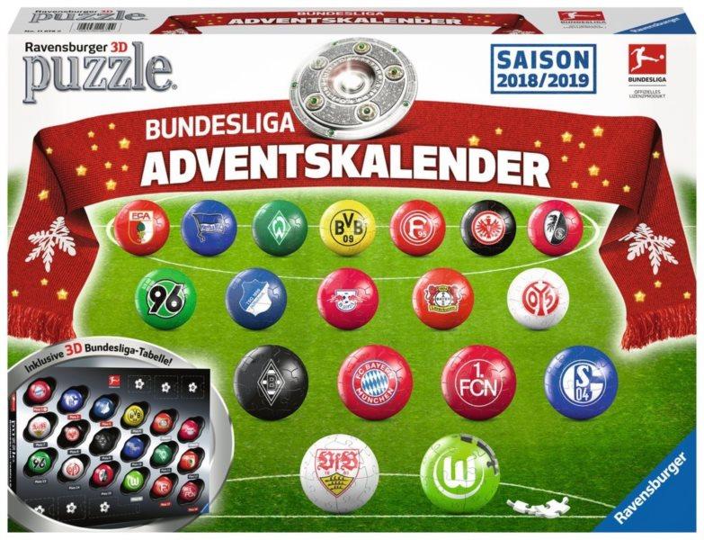 RAVENSBURGER Puzzleball Adventní kalendář Bundesliga 2018,2019