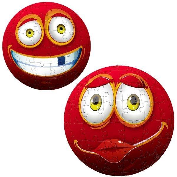 TREFL Puzzleball Červený obličej 96 dílků