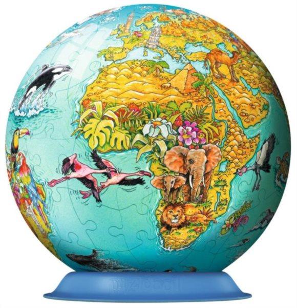 Puzzleball RAVENSBURGER 108 dílků - Dětská mapa světa