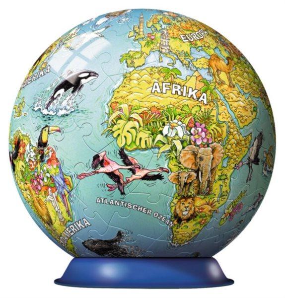 RAVENSBURGER Puzzleball Dětská mapa světa s nápisy 108 dílků