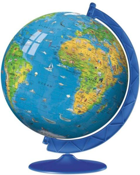 Puzzleball RAVENSBURGER 180 dílků - Dětský globus se zvířátky