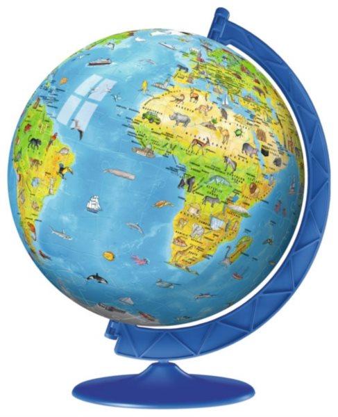 Puzzleball RAVENSBURGER 12338 Puzzleball Dětský globus se zvířátky (anglický) 180 dílků
