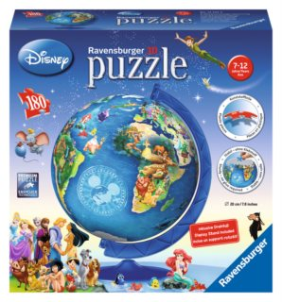 Puzzleball RAVENSBURGER 180 dílků - Dětský Disney globus
