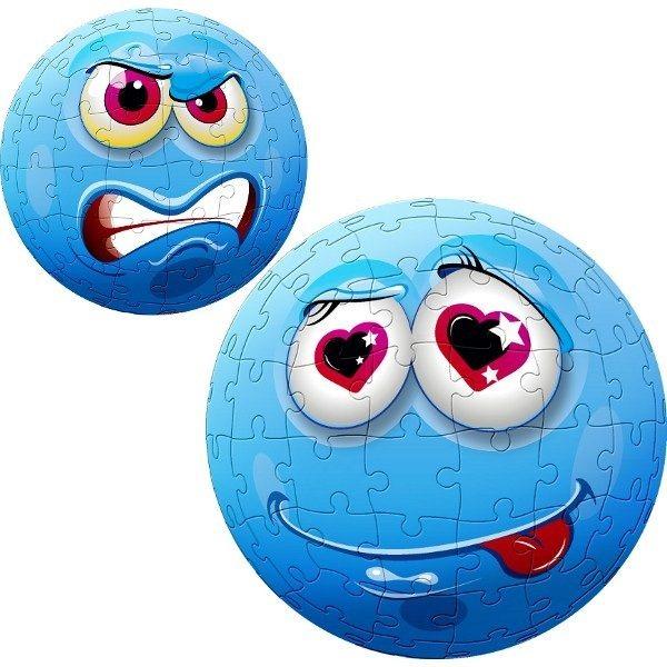 TREFL Puzzleball Modrý obličej 96 dílků