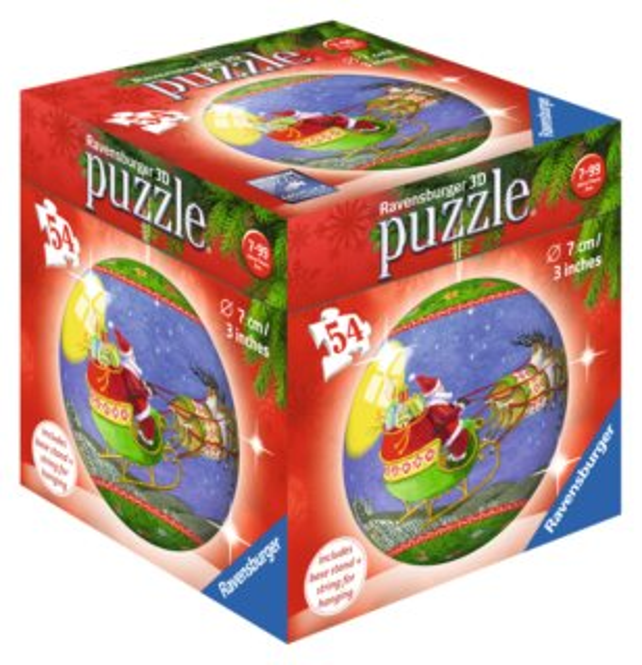 RAVENSBURGER Puzzleball Vánoční baňka Santa Claus 54 dílků