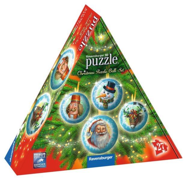 RAVENSBURGER Puzzleball Vánoční kolekce 4x27 dílků
