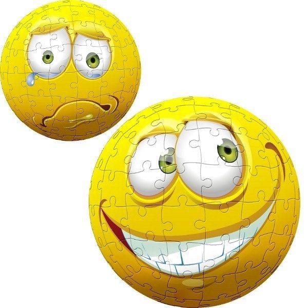 TREFL Puzzleball Žlutý obličej 96 dílků