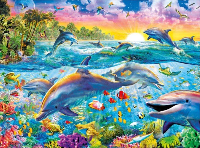 CLEMENTONI Puzzle Ráj delfínů 500 dílků