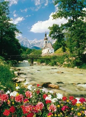 Puzzle TREFL 3000 dílků - Ramsau, Bavorské Alpy, Německo