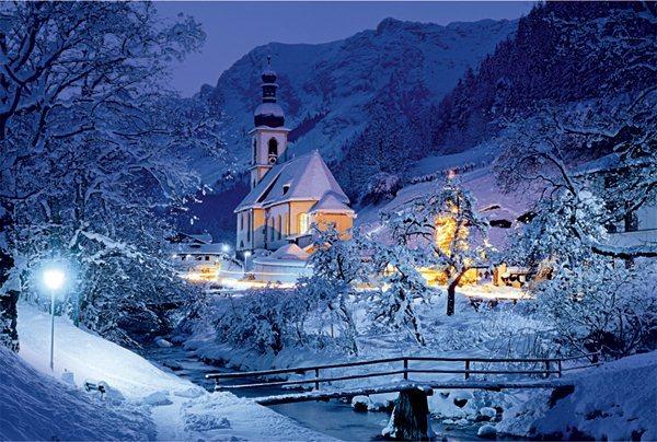 Puzzle TREFL 1500 dílků - Ramsau, Bavorské Alpy, Německo