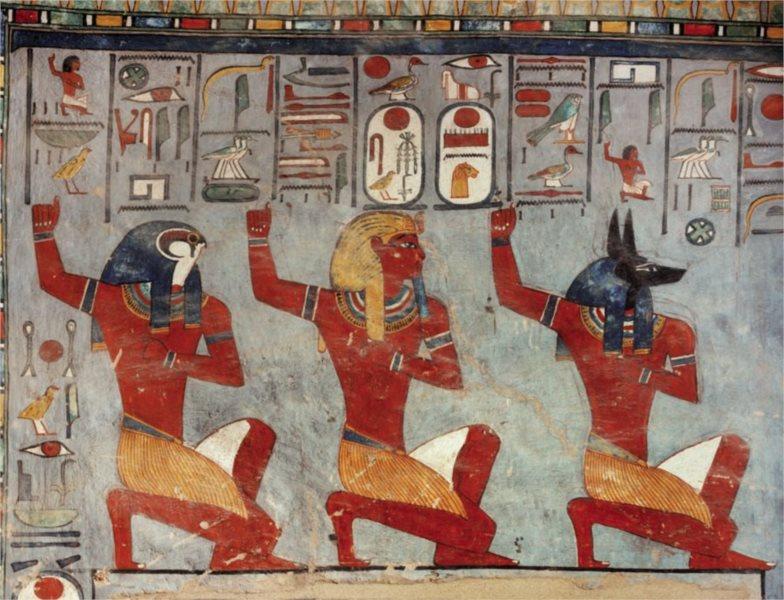 Puzzle EDITIONS RICORDI 1000 dílků - Ramses III. klečící před bohy