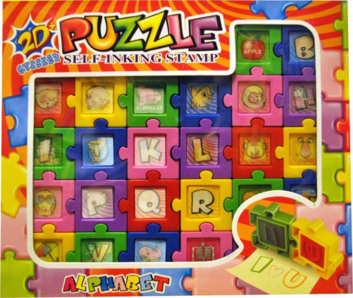 Puzzle razítka Písmena
