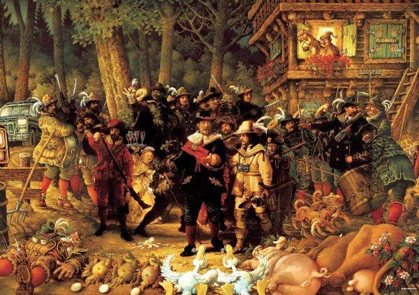 HEYE Puzzle Rembrandt 1000 dílků