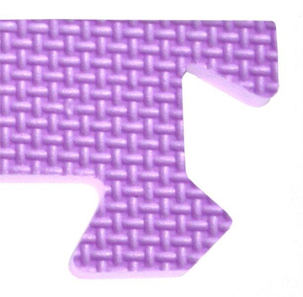 Rohový zakončovací dílek 10mm - okraje k pěnovému koberci, fialová barva