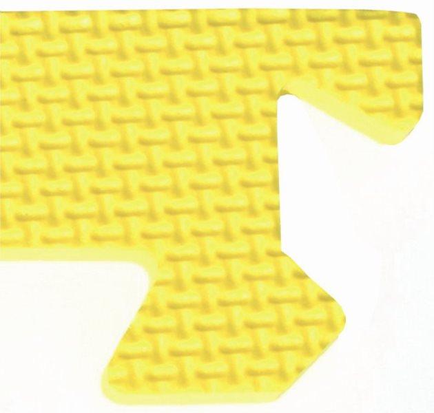 Rohový zakončovací dílek 10mm - okraje k pěnovému koberci, žlutá barva